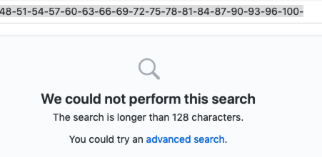 Github failed to search image