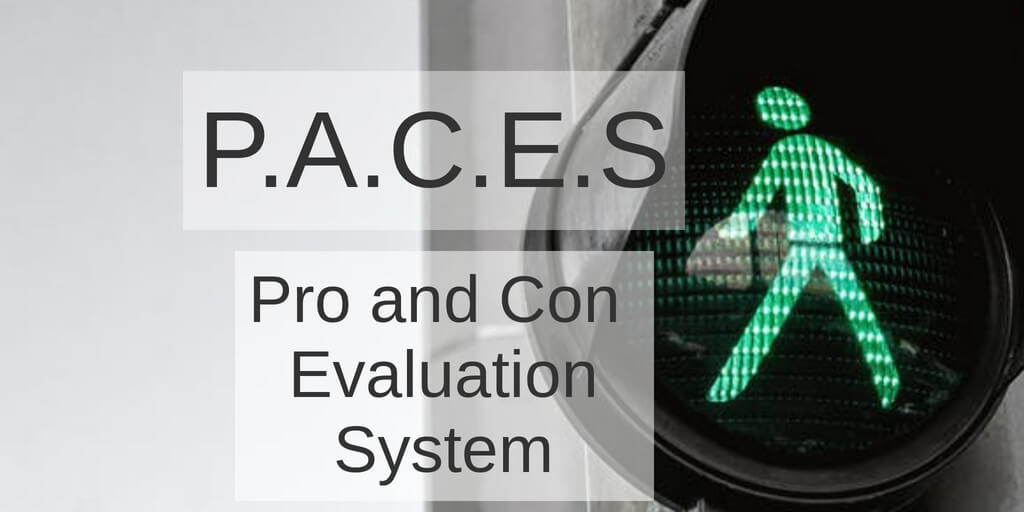 P.A.C.E.S Pro and Con Evaluation System Promo