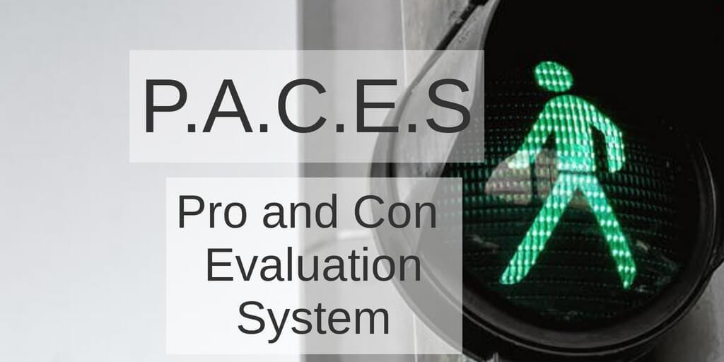 P.A.C.E.S Pro and Con Evaluation System Promo