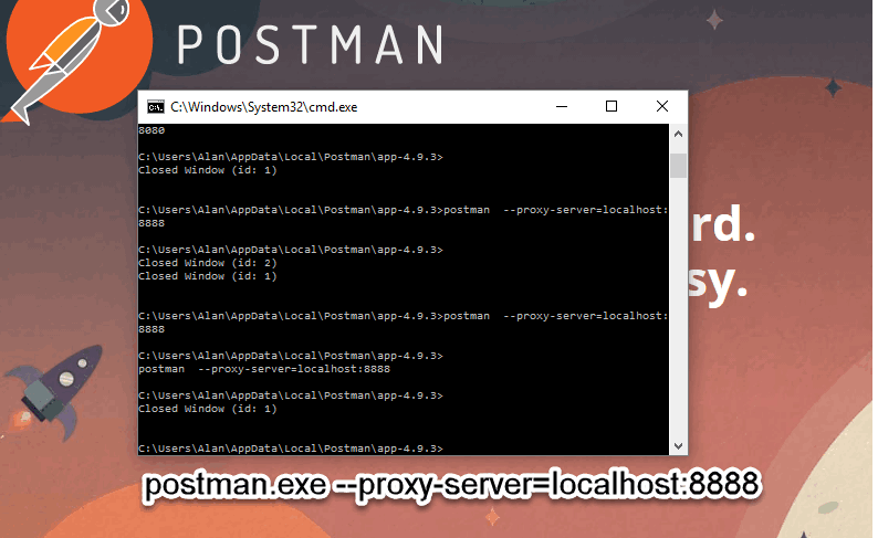 How to configure Postman Native Client App to use an
