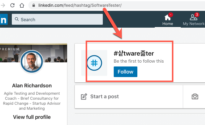 possible bug with linkedin url hashtag processing