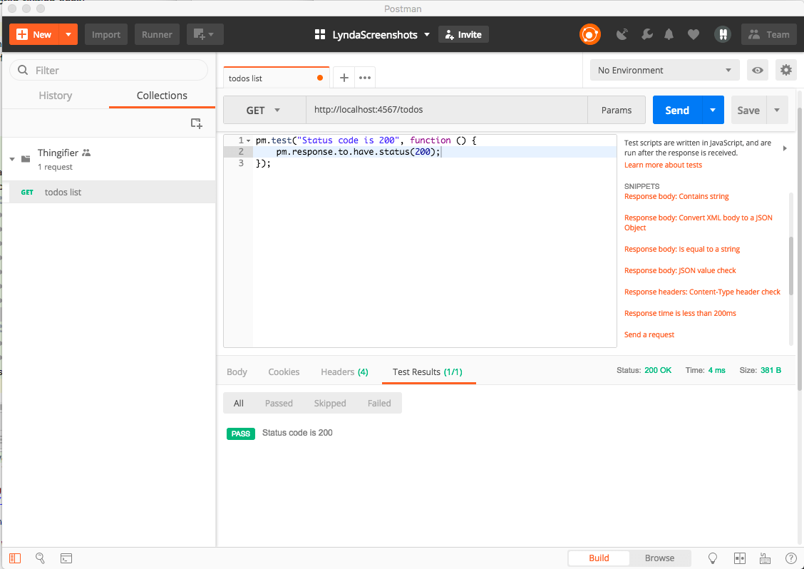 Assertion passes in Postman