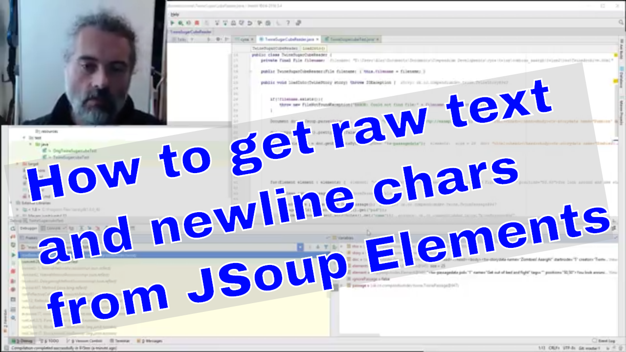 JSoup Tip How to get raw element text with newlines in Java