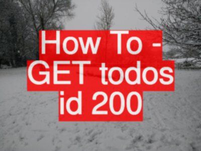 API Testing Challenge - How To - GET todos id 200