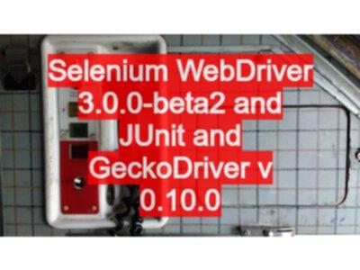 Selenium WebDriver 3 0 0-beta2 and JUnit and GeckoDriver v