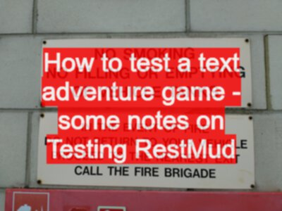 How to test a text adventure game - some notes on Testing