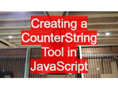 JavaScript Tutorial Creating a CounterString tool in Chrome