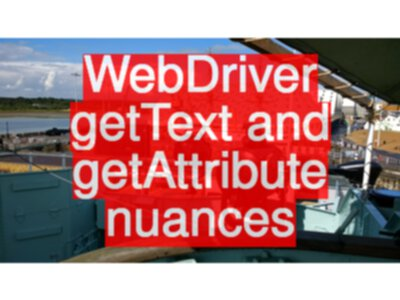 Difference between Selenium WebDriver getText and getAttribute