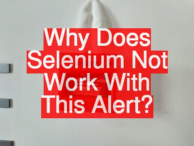 Why Does Selenium Not Work With This Alert?