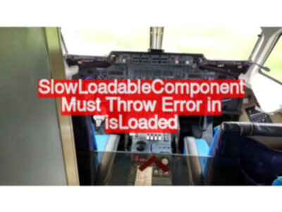 Why is my SlowLoadableComponent not waiting?